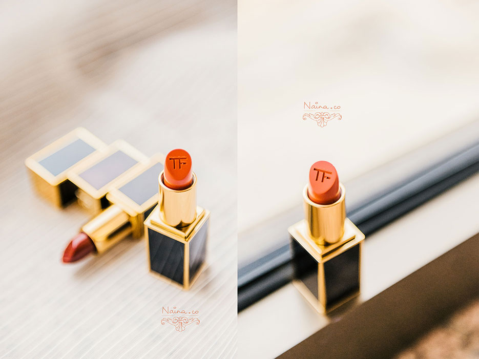Tom Ford Lipsticks, Wild Ginger, Scarlet Rouge. Cosmetics photographed by Lifestyle Photographer Naina Redhu of Naina.co