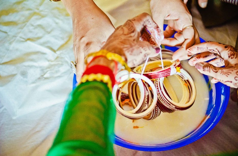 Indian wedding photographer : photography by Naina and Knottytales | Haldi, Chuda, Puja Ceremony