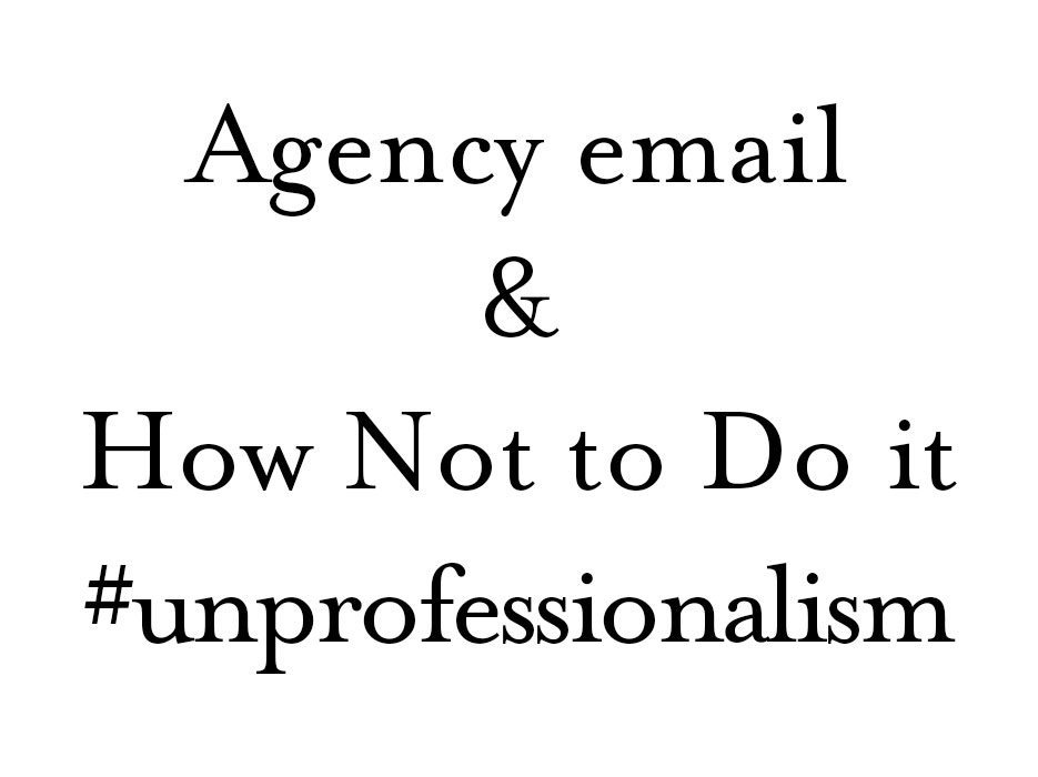 Agency-Email-Unprofessionalism