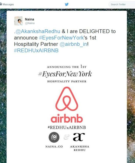 #EyesForNewYork Hospitality Partner Airbnb #REDHUxAIRBNB, Naina.co Luxury & Lifestyle Photographer, Blogger Storyteller