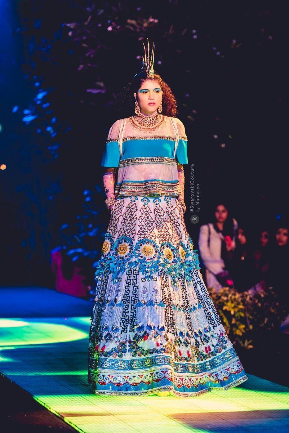 Indian by Manish Arora #SwarovskiCouture #SwarovskiCrystals Swarovski India, Naina.co Luxury Lifestyle Photographer Blogger Experience Collector