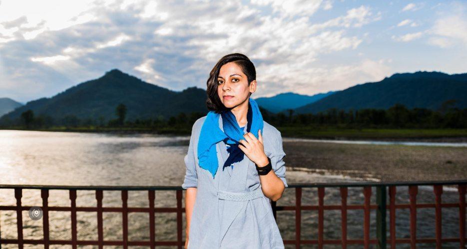 #CoverUp 78, #EyesForArunachal, Naina.co, Luxury Photographer, Lifestyle Photographer, Travel Photographer, Fashion Photographer, Naina Redhu, #EyesForDestinations, #EyesForIndia, Destination Photographer, India, Arunachal Pradesh, Aalo, Aalong, River Front, Deck, Experience Collector, Photo Story, Visual Experience Collector, #CoverUp, BIAS India, Wear Bias, Jacket