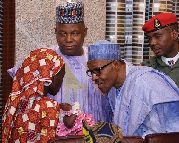 Found Chibok Girl Meets President Buhari (Photos)