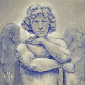 Angel Statue Drawing Practise