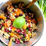Colorful Spring Salad with Mustard Date Dressing