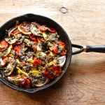 roasted ratatouille with sunflower seed pesto