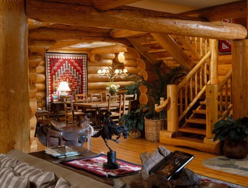 Radiant Log Home Interior Log Home Interior North American Log Crafters Home Interior Western S