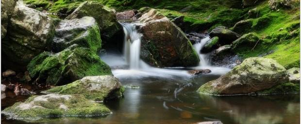 Kleine watervalletjes in het riviertje de Hoëgne