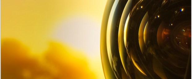 Front lens element van de Canon EF 17mm f/4L TS-E