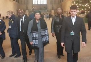 President Ellen Johnson Sirleaf goes for a function during her UK trip Photo: emansion.gov.lr