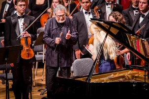 Opening Performance at the Festival Miami 2012, with LeonFleisher conducting Frost Symphony Orchestra