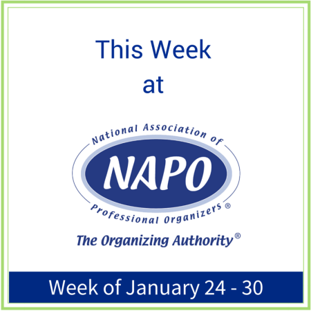 This Week at NAPO week of January 24 - 30