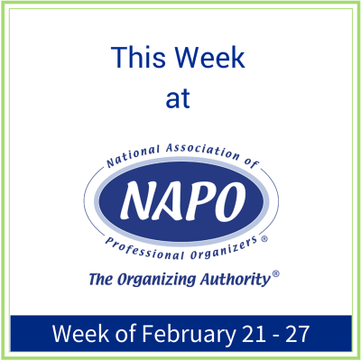 This Week at NAPO week of February 21 - 27