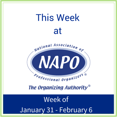 This Week at NAPO week of January 31 - February 6