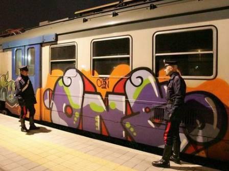 graffiti treno
