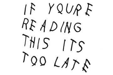 If You're Reading This It's Too Late Front