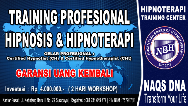Training Profesional Hipnotis Bergaransi