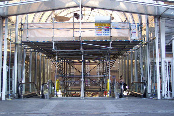 Scaffolding solution for Liverpool St Train Station