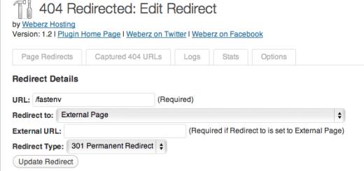 Wordpress Plugin 404 redirected