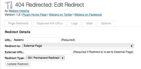 Wordpress Plugin 404 redirected - manual redirects