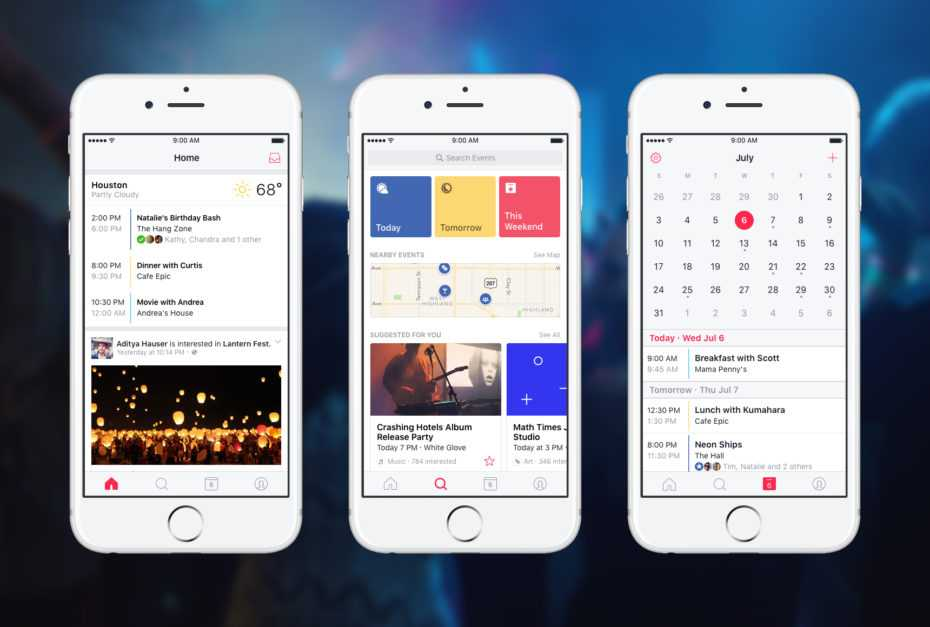 Facebook Launches New Standalone Events App