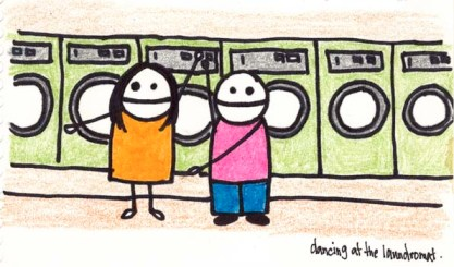 Dancing at the laundromat