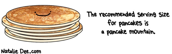 or half a pancake mountain if youre watching%20your figure Power Pancakes Recipe