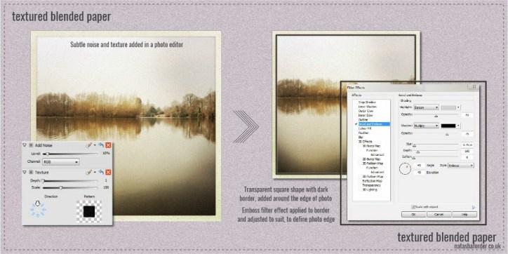 broadwater lake creativity sheet 2 textured blended paper
