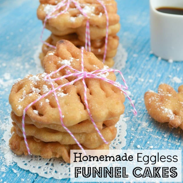 Homemade Eggless and Dairy Free Mini Funnel Cakes