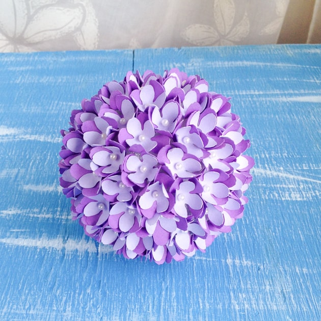 purple flower pomander