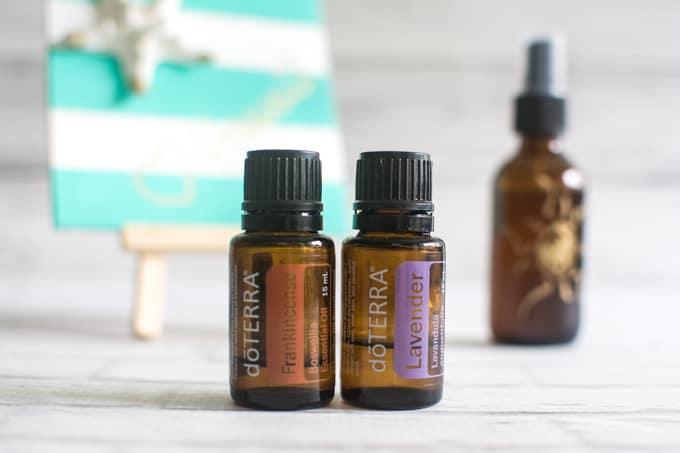 essential oil spray for sunburned skin