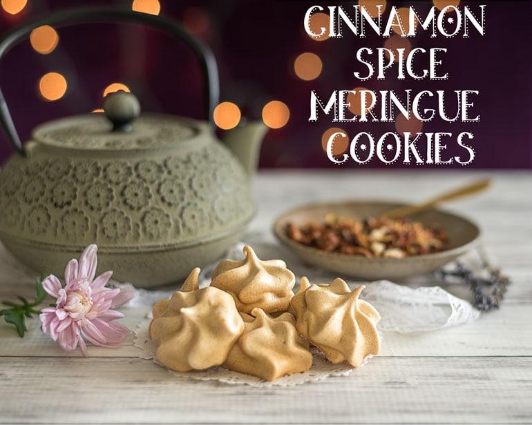 Cinnamon Spice Meringue Cookies