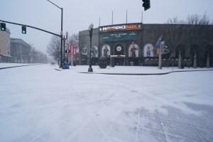 Providence Park in snow.