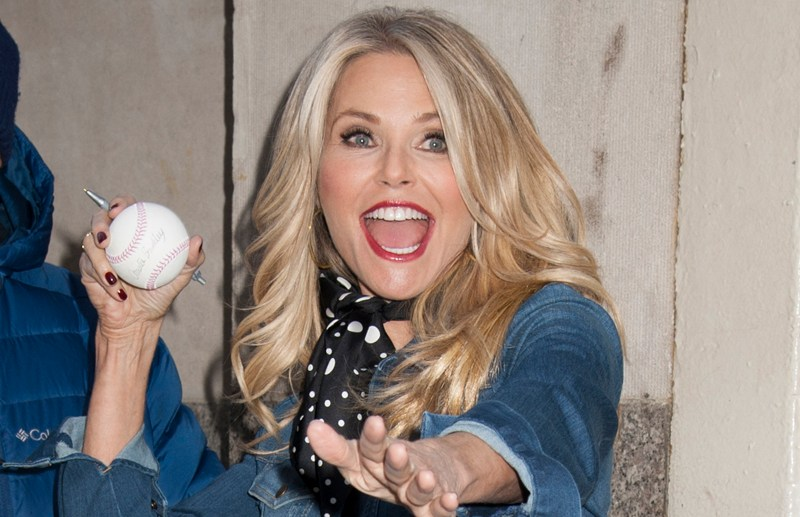 EXCLUSIVE: Christie Brinkley has fun with photographers at HuffPost Live in NYC Huff Post Live, NY  Pictured: Christie Brinkley Ref: SPL1216629  280116   EXCLUSIVE Picture by: Janet Mayer / Splash News  Splash News and Pictures Los Angeles:	310-821-2666 New York:	212-619-2666 London:	870-934-2666 photodesk@splashnews.com