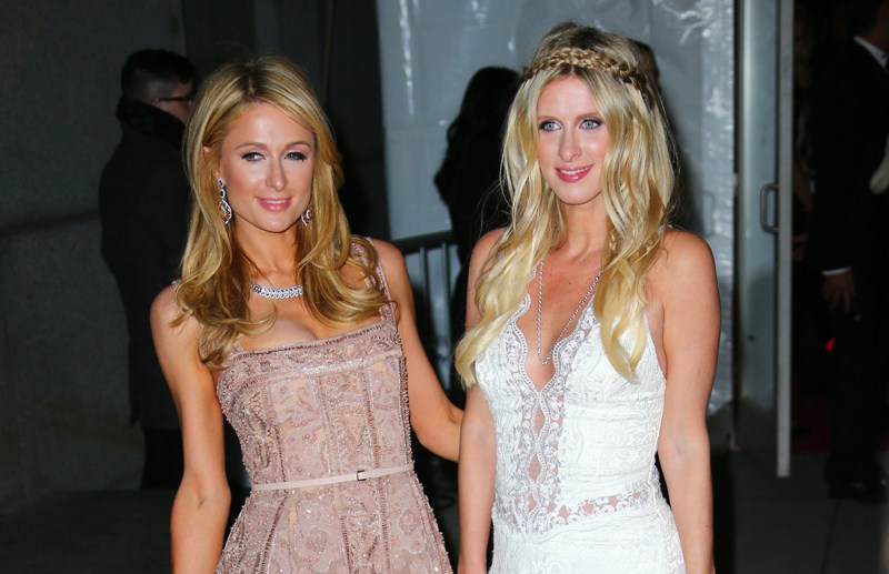Paris Hilton and Nicky Hilton arrive at amFAR Gala at Cipriani NYC  Pictured: Paris Hilton and Nicky Hilton Ref: SPL1224953  110216   Picture by: Jackson Lee/Splash News  Splash News and Pictures Los Angeles:	310-821-2666 New York:	212-619-2666 London:	870-934-2666 photodesk@splashnews.com