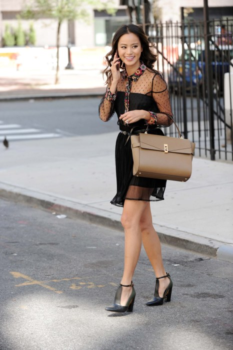 Jamie Chung Running Errands in NYC