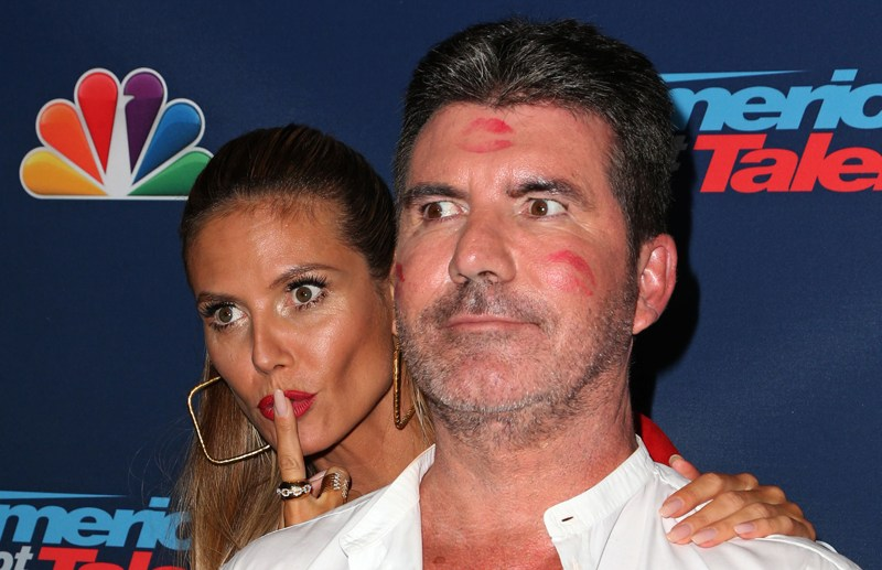 Americas Got Talent - Season 11 Live Show - Arrivals at Dolby Theatre Hollywood, California.   Pictured: Heidi Klum, Simon Cowell Ref: SPL1342648  300816   Picture by: Russ Einhorn / Splash News  Splash News and Pictures Los Angeles:	310-821-2666 New York:	212-619-2666 London:	870-934-2666 photodesk@splashnews.com