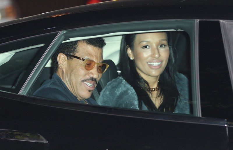 Lionel Richie leave Malibu SoHo House with his girlfriend Lisa Parigi in Los Angeles, CA.  Pictured: Lionel Richie and Lisa Parigi Ref: SPL1291978  260516   Picture by: LA Photo Lab / Splash News  Splash News and Pictures Los Angeles:	310-821-2666 New York:	212-619-2666 London:	870-934-2666 photodesk@splashnews.com