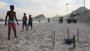 rio olympics body parts on beach