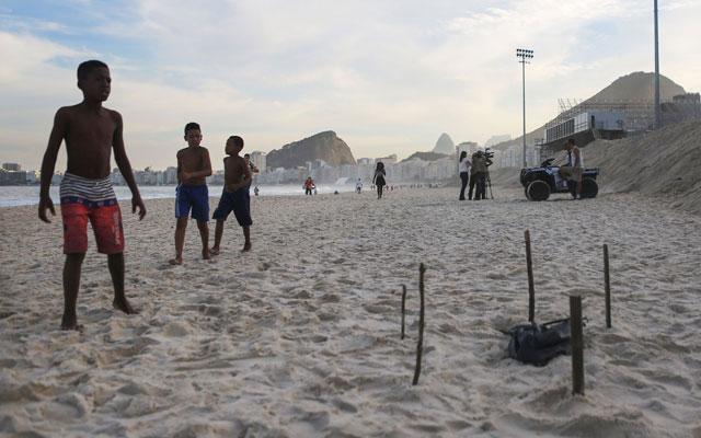 rio olympics body parts on beach F