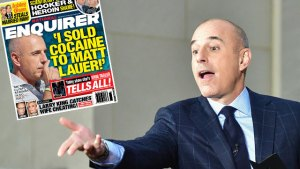 matt lauer cocaine drug use national enquirer