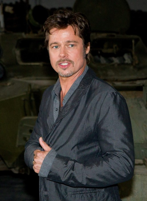 Brad Pitt at the 'Fury' photocall