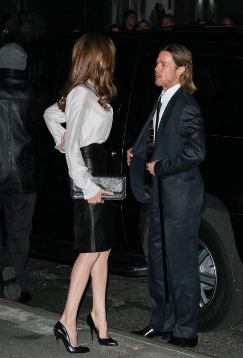 Angelina Jolie and Brad Pitt in New York. – January 9th, 2012
