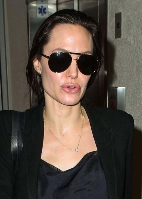 Angelina Jolie and Maddox Jolie-Pitt seen at LAX Airport