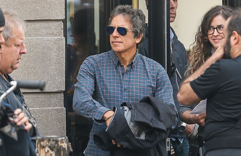 EXCLUSIVE: Ben Stiller looking happy and healthy on the Montreal set of 'Brad's Status!' Executive produced by Brad Pitt, the movie is currently filming in Montreal. Ben just recently discussed about having a cancer scare, but everything seems A-OK on set!   Pictured: Ben Stiller Ref: SPL1351189  231016   EXCLUSIVE Picture by: Splash News  Splash News and Pictures Los Angeles:310-821-2666 New York:212-619-2666 London:870-934-2666 photodesk@splashnews.com