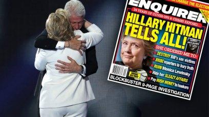 hillary clinton lesbian affairs hitman bagman national enquirer