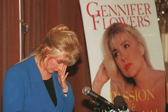 Gennifer Flowers, who claims to have carried on a