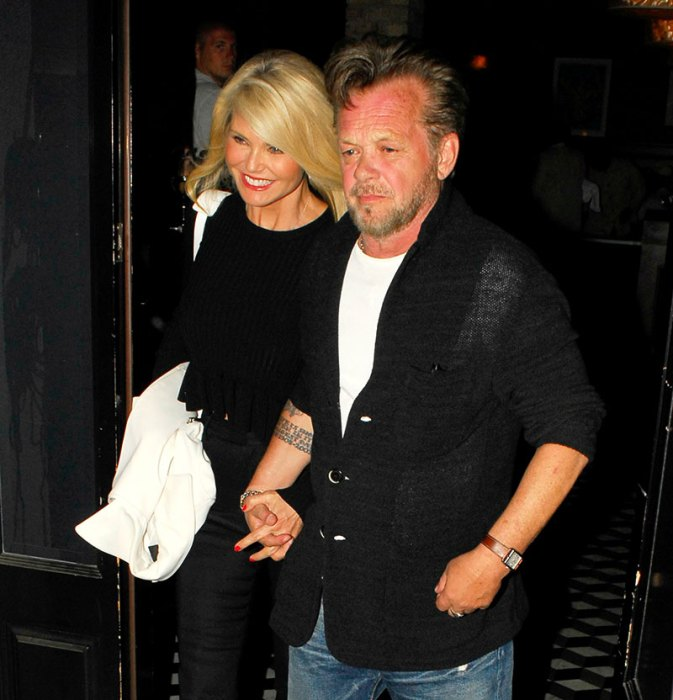 Christie Brinkley and John Mellencamp make it a date night at Craig's