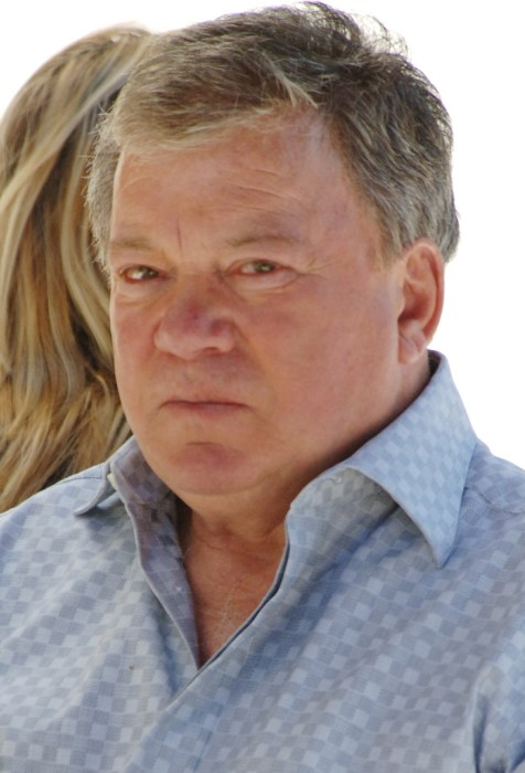 EXCLUSIVE: William Shatner tries to figure out a cell phone in Studio City, Ca