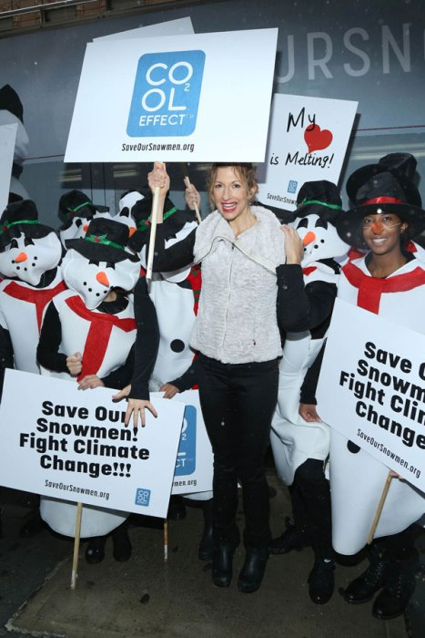 Alysia Reiner hosted Cool Effect`s #SaveOurSnowmen climate change mockumentary screening